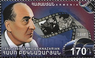 Hamo Beknazarian - Hamo Beknazarian on a 2017 stamp of Armenia