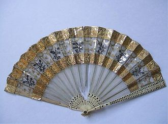 European hand fans in the 18th century - Image: Hand fan 1800 1805