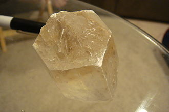 Evaporite - Hanksite, Na22K(SO4)9(CO3)2Cl, one of the few minerals that is both a carbonate and a sulfate