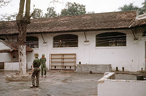 "Operation Homecoming - The Hoa Lo Prison, commonly referred to as the ""Hanoi Hilton"" by American POWs, in 1973"