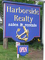 Harborside Realty real estate sign, Provincetown, MA, USA.JPG