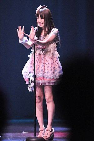 Haruna Kojima - Image: Haruna Kojima (小嶋陽菜) at Anime Expo 2010