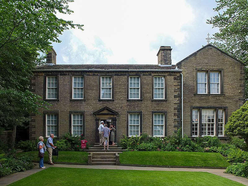 Haworth Parsonage, where Anne Brontë grew up and lived.