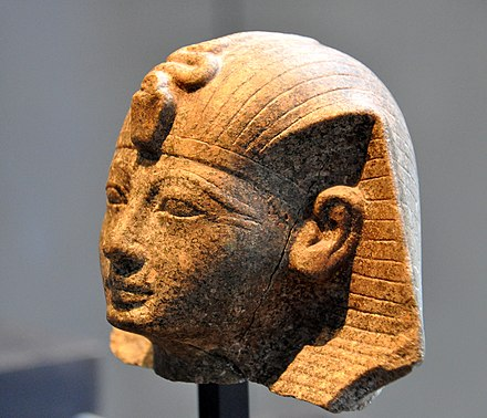 Head of Amenhotep II. 18th Dynasty, c. 1420 BC. 18th Dynasty. State Museum of Egyptian Art, Munich Head of Amenhotep II. 18th Dynasty, c. 1420 BC. 18th Dynasty. State Museum of Egyptian Art, Munich.jpg