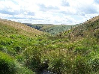 Mynydd Mallaen - Head of a valley on Mynydd Mallaen
