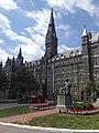Healy Hall John Carroll statue Georgetown University Washington DC May 2019.jpg