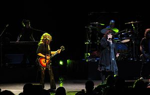 Heart (band) - Sisters Nancy and Ann Wilson at the Beacon Theater in New York City, 2012