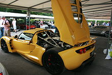 Rear View With Engine Displayed The Venom Gt