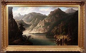 Henry Vianden - Image: Henry vianden, paesaggio con montagne e fiume, 1874 82, 01