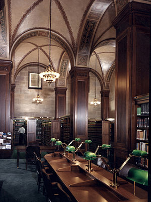 Louis Ayres - Research Library of the U.S. Dept. of Commerce building, designed by Louis Ayres and with interior decoration by Barnet Phillips