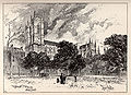 Herbert Railton Westminster Abbey from Dean's Yard A Brief Account of Westminster Abbey 1894.jpg