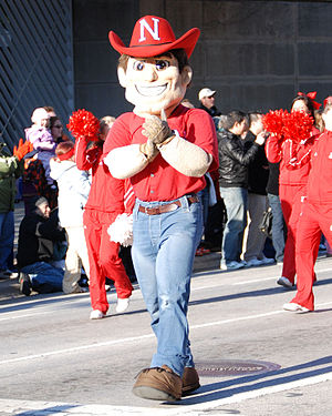 Nebraska Cornhuskers football - Herbie Husker, one of Nebraska's mascots.