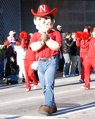 Nebraska Cornhuskers football - Herbie Husker, one of Nebraska's mascots