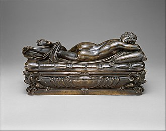 Sleeping Hermaphroditus - Bronze example at the Metropolitan Museum