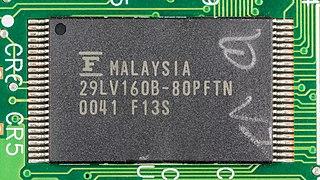 Hewlett-Packard JetDirect 170X - board - Fujitsu 29LV160B-80PFTN-2505.jpg