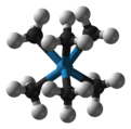 Ball and stick model of hexamethyltungsten