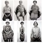 6 pencil and ink drawings of eldery Japanese people, Hibakusha, Survivors of the Atomic Bomb, Hiroshima
