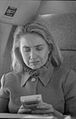 Hillary Rodham Clinton on plane using Game Boy (16).jpg