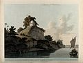 Hindu temple on the river Ganges, near Kara, Uttar Pradesh. Wellcome V0050480.jpg