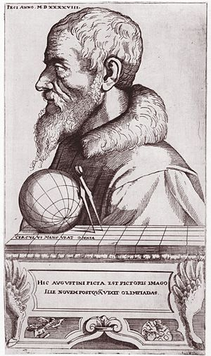 Augustin Hirschvogel - Self Portrait as Cartographer (1548)