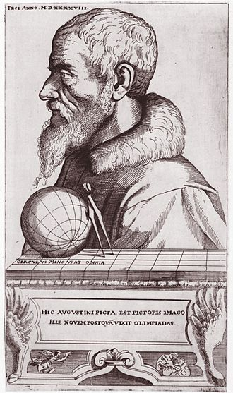 Augustin Hirschvogel - Self Portrait as Cartographer (1548)
