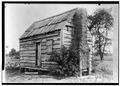 Historic American Buildings Survey Photography Albert Simmons 1935 CABIN WITH MUD CHIMNEY - Cabin, Cross, Berkeley County, SC HABS SC,8-CRO.V,1-1.tif