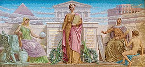 Frederick Dielman - History (1896). Mosaic, Library of Congress Thomas Jefferson Building, Washington, D.C.