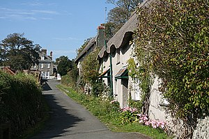 Mothecombe - View towards Mothecombe House
