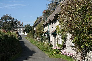 Mothecombe hamlet and historic estate in Holbeton, South Hams, Devon, England