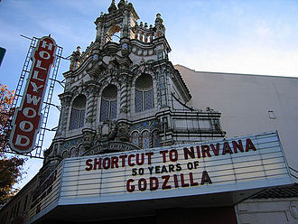 Hollywood Theatre (Portland, Oregon) - The marquee and front facade on Sandy Boulevard.