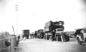 Holon - Convoy being assembled at Holon. 1948