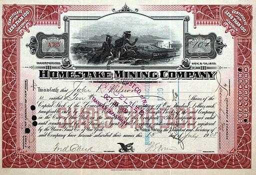 Homestake Mining 1908