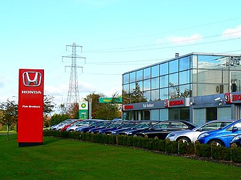 English: Honda dealership. West Swindon The st...