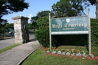 Hope Cemetery (Worcester, Massachusetts) - Image: Hope Cemetery Worcester MA
