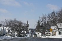 Horicon Wisconsin Downtown Looking West WIS28.jpg