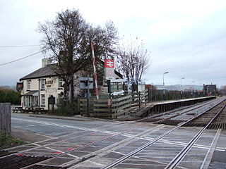Hoscar railway station Railway station in Lancashire, England