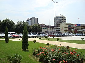 Hotel Macedonia and the square.JPG
