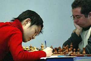 Hou Yifan - Hou Yifan, when she was 11, at the 2005 World Team Chess Championship, Beersheva, Israel