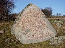 Photo d'une pierre gravée