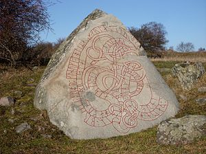 Håkan the Red - Runestone U 11 on Adelsö island in Lake Mälaren, probably carved at Håkan the Red's request.