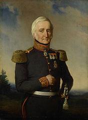 Huibert Gerard Baron Nahuys van Burgst (1782-1858). Lid van de Raad van Nederlands Oost Indië, in het uniform van generaal-majoor titulair