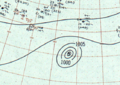Hurricane Dot surface analysis 3 Aug 1959.png