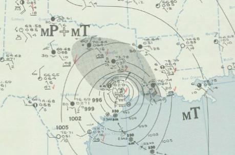 Hurricane September 24, 1941 weather map
