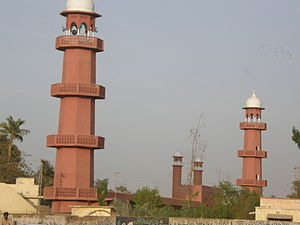 Minarets of a Mosque in Hyderabad Pakistan