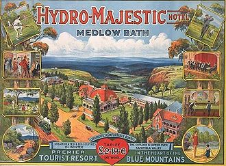 Hydro Majestic Hotel - Poster advertising the hotel from the 1920s