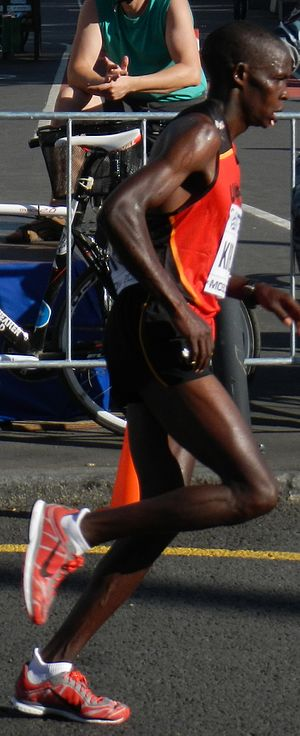 Uganda at the 2012 Summer Olympics - Abraham Kiplimo (pictured in 2013) was eliminated in the first round of the 5000 metres.