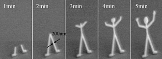 Electron beam-induced deposition - Image: IBID human growth