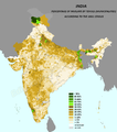 INDIA.PERCENTAGE OF MUSLIMS BY TEHSILS. ACCORDING TO THE 2001 CENSUS.png