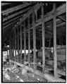 INTERIOR OF HAY BARN, LOOKING WEST - Dye-White Farm, County Road 244, Heardmont, Elbert County, GA HABS GA,53-HEAR.V,2-12.tif