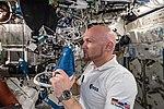 ISS-56 Alexander Gerst works in the Destiny module (1).jpg